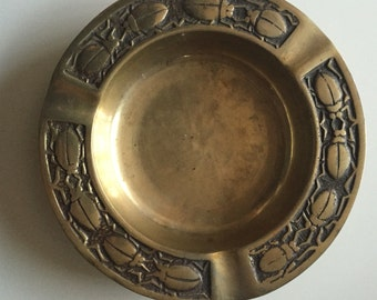 Brass Ashtray | Brass Beetle | Brass Insect | Brass Beetle Ashtray