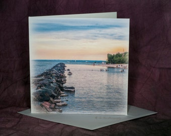Blank Sunset Greeting Cards