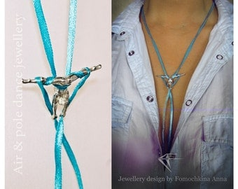 "Aerial Silk Jewelry Pendant ""Twine"""