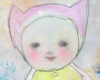 Naive Painting - Childlike Modern Art - Raw Art - Art Brut - Whimsical Painting – Kids Wall Art - Nursery Art - Baby Shower