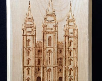 wood burning - any lds temple