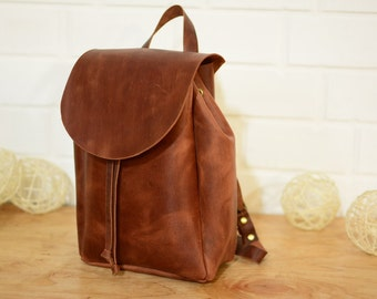 Leather Backpack.  Leather rucksack. Leather backpack handmade.Gifts for woman. Shoulder Bag, Travel Bag, Bag  backpack