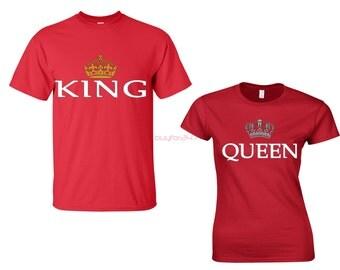 King Queen Shirts King Queen T Shirts King T Shirt Queen T Shirt Couple Shirts Couple Matching Shirts