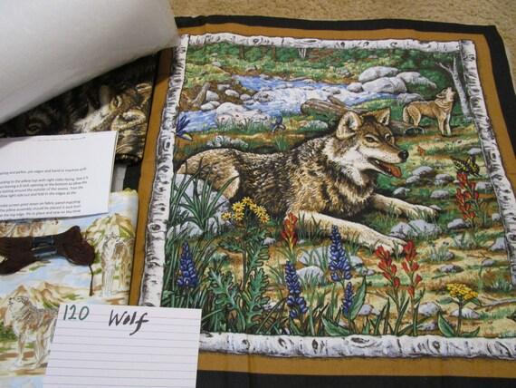 Wolf Pillow Quilt Kit