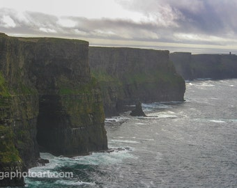 Landscape photography.  Digital file. Instant download. Irelands Incredible Cliffs of Moher