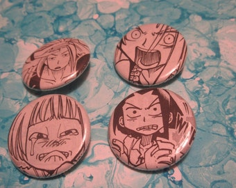 Shaman King Upcycled Pin Set 2, Shaman King Shonen Jump Pins