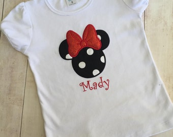 Disney INSPIRED Minnie Mouse with Bow Shirt