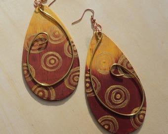 Afrohemian Raindrop Earrings