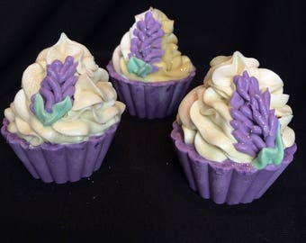 "Whimsical Soap Cupcake ""Lovely Lavender"""