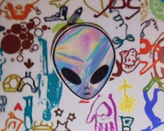 Trippy Alien Head Sticker
