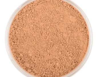 Natural Mineral Foundation - Shade: Tan - 10g sifter jar (vegan, cruelty-free makeup, loose face powder, perfect for acne & sensitive skin)