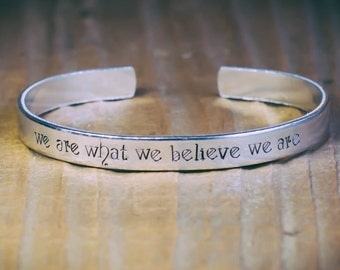 We Are What We Believe We Are / Literary Jewelry / Inspirational Jewelry / Motivational Quote Jewelry / CS Lewis