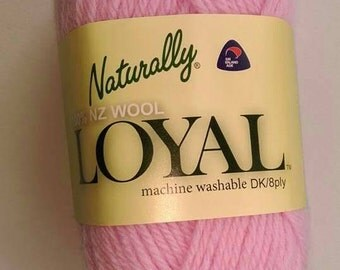 8ply pure New Zealand wool - pink