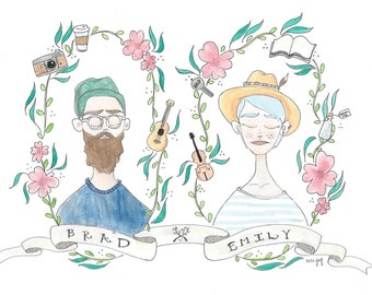 Custom Couple or Family Portrait