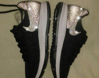 Swarovski nike, women's Nike pegasus, bling nikes, blinged out Nike shoes, custom nikes, rhinestone nikes, gym sneakers, rhinestone shoes