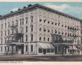 Newark, Ohio Vintage Postcard - Warden Hotel
