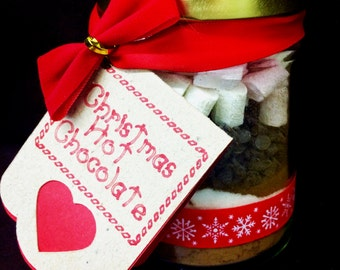 Christmas Hot Chocolate Gift Jar