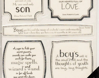 Little Boys Vellum Quotes  Sticko  Scrapbook Stickers Embellishments Cardmaking Crafts