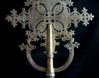 Antique Ethiopian Processional Cross