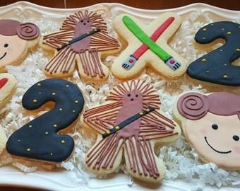 Starwars Cookies One dozen Gift ready!