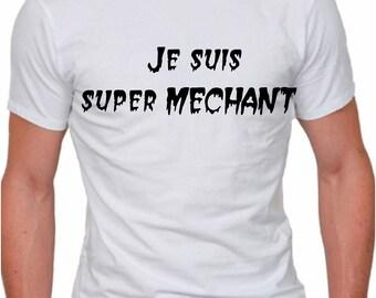 White men's T-shirt, I'm super villain