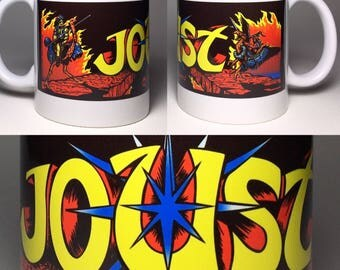 Joust Ceramic Coffee Cup Mug Arcade Williams 11 oz