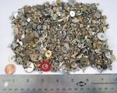 Watch Parts 12 oz (340+ grams) Steampunk Supply Gears Plates Wheels Tiny Cogs Crowns  Date Balance Wheels Bulk Wholesale Lot B2