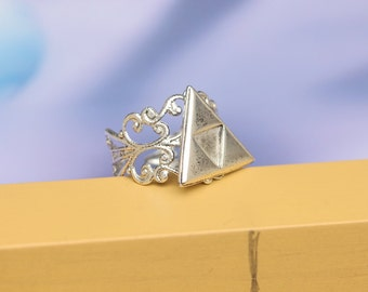 silver The Legend of Zelda jewelry Triforce ring Metal antique gift R266