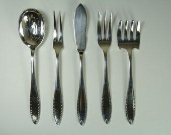 CHRISTOFLE Cutlery - ALBATROS - 5 Piece Serving Set