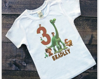Dinosauer Birthday Bodysuit size 6-24 Month; Tee Size 2T and Up; FREE Personalization; Any Age