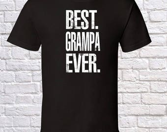 Best Grampa Ever Grandpa Gift, Grampa Birthday, father day Grampa Tshirt, Grampa Gift Idea, Baby Shower,