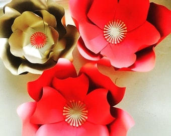Set of 3 Paper Flowers