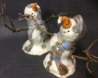Stoneware and Porcelain Melting Snowman