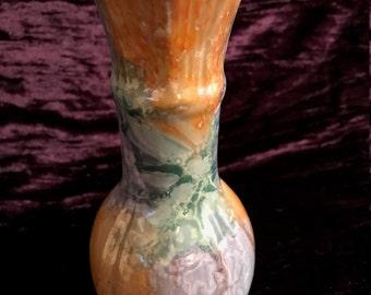 Vintage Lusterware Bud Vase Pottery