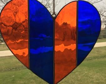 Heart - Blue & Orange