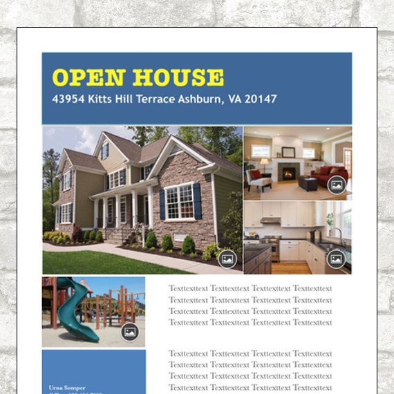 Blissful Salutations  Open House Flyer Template