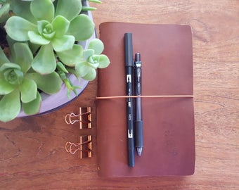 Classic-WILD BROWN,Travelers Notebook, Leather Journal Cover, Leather Organizer