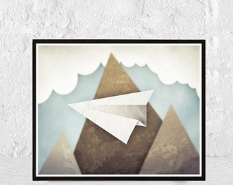 Mountain Print Poster Nature Print Landscape Modern Art Mountain Wall Art Mountain Poster Scandinavian Art Minimalist Print Scandinavian