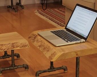 Live edge Elm stand up desk kit