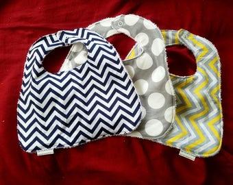 Extra Wide Bib set of 2   Baby Bib   Infant Bib   *free shipping on US orders