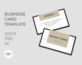Classic Business Card /Elegant business card template / creative business card / modern business card / personalized busieness card