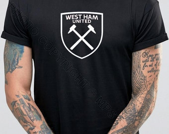 West Ham United Football T-Shirt - West Ham Till I Die - Inspired t shirt Design