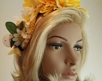 Miss Beehaving Headband Fascinator by Linda Lee Clothing