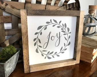 Joy Wood Sign, Joy sign for Christmas, Joy Sign, Painted Wood Sign, Rustic Decor, Holiday Decorations, Wooden Sign, Wall Decor, Gift Idea