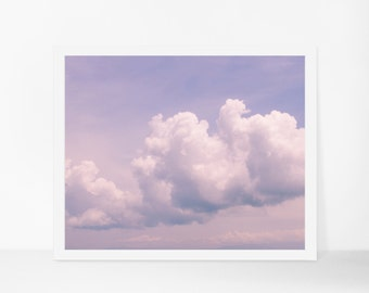 Printable Cloud Photography, Printable Nature Art, Purple Cloud Printable Poster, Instant Download, Serene Modern Home Decor, Digital Print