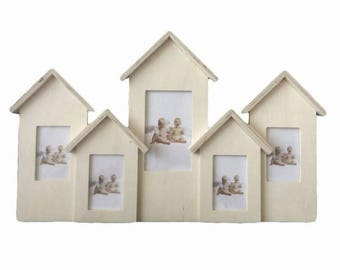 16 wall PHOTO FRAME with log cabins. For decoupage