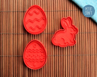 Easter Eggs and Bunny - Cookie Cutters, Cake and Fondant Decorates