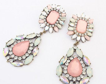 Large Pink Statement Earrings