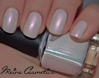 Ice Of Isis - White with Pink shimmer Nail Polish