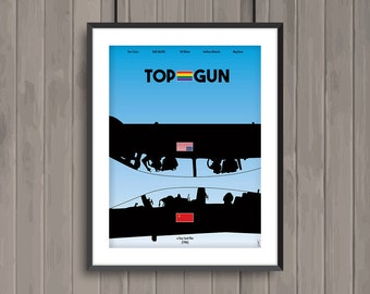 TOP GUN, minimalist movie poster